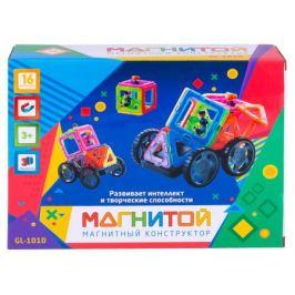Конструктор магнитный Машинка с 2 героями Магнитой 16 деталей