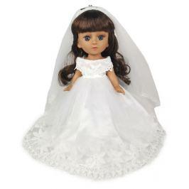 Кукла в свадебном платье брюнетка 34 см