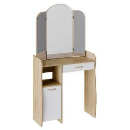 Стол туалетный «София Т1», дуб сонома/белый