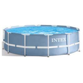 Каркасный бассейн Intex Prism Frame 366х122 см, фильтр-насос 3785 л/ч, лестница, 10685 л