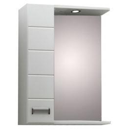 Зеркало «Вега 60» правое Doratiz с подсветкой, белый, со шкафчиком