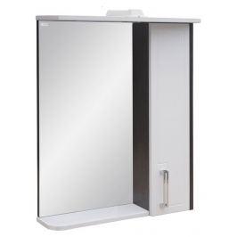Зеркало «Мираж 60» Doratiz правое, с подсветкой, венге/белый, со шкафчиком, с подсветкой
