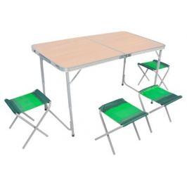 Комплект для пикника Zagorod В103, стол-чемодан и 4 стула, коричневый