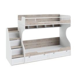 Кровать двухъярусная с приставной лестницей Ривьера (80х200)