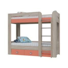 Кровать 2-х ярусная с двумя ящиками Сити (80х200)