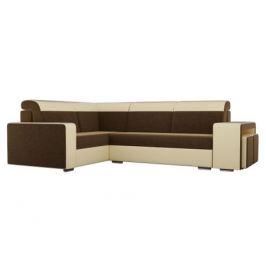 Угловой диван Мустанг с двумя пуфами Левый MebelVia