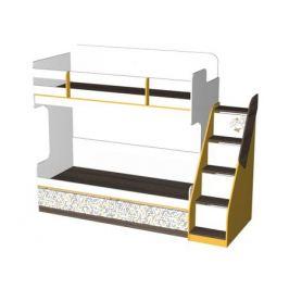 Кровать двухъярусная с лестницей Жираф (80х190)