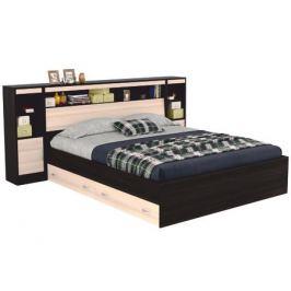 Кровать с блоком, ящиками, тумбами и комплектом для сна Виктория (180х200)
