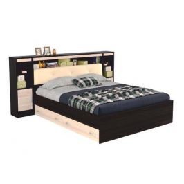 Кровать с блоком, тумбами, ящиками и комплектом для сна Виктория ЭКО-П (140х200)