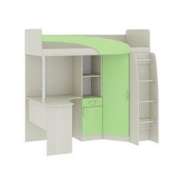 Кровать-чердак со шкафом и столом Николь (80х200)