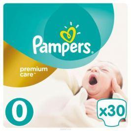Pampers Подгузники Premium Care 0-2,5 кг (размер 0) 30 шт