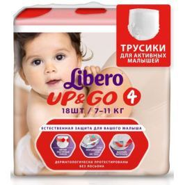 Libero Трусики-подгузники Up&Go Size 4 (7-11 кг) 18 шт