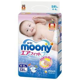 Moony Подгузники, 4-8 кг, 81 шт