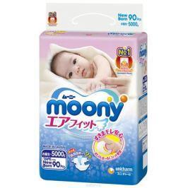 Moony Японские подгузники, NB, 0-5 кг, 90 шт