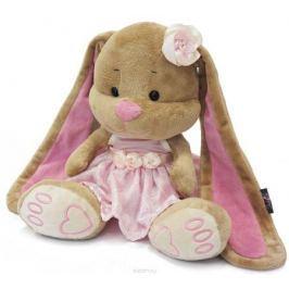 Maxi Toys Мягкая игрушка Зайка Лин в розовом платье 25 см