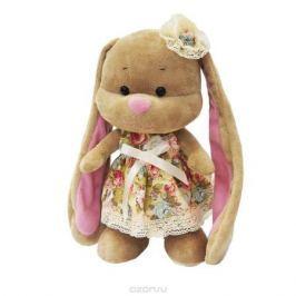 Maxi Toys Мягкая игрушка Зайка Лин в летнем платье с цветочком на голове 25 см