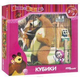 Step Puzzle Кубики Маша и Медведь