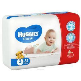 Huggies Подгузники Classic 4-9 кг (размер 3) 31 шт