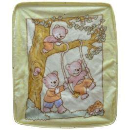 Bonne Fee Плед-накидка для младенцев на молнии 1, 80 х 90 см, цвет: желтый
