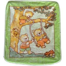 Bonne Fee Плед-накидка для младенцев на молнии 1, 80 х 90 см, цвет: зеленый