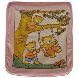 Bonne Fee Плед-накидка для младенцев на молнии 3, 80 х 90 см, цвет: розовый