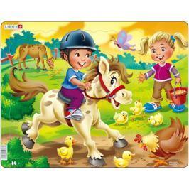 Larsen Пазл Дети на ферме Пони