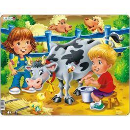 Larsen Пазл Дети на ферме Корова Обучение и развитие