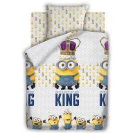 Миньоны Комплект постельного белья детский Кинг 1,5-спальный наволочка 70х70