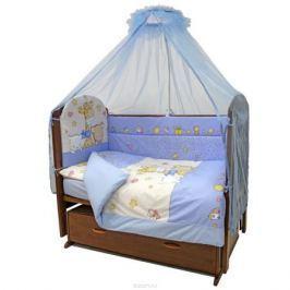 Топотушки Комплект детского постельного белья Детский Мир цвет голубой 7 предметов