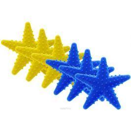 Valiant Мини-коврик для ванной комнаты Морская звезда на присосках цвет желтый синий 6 шт