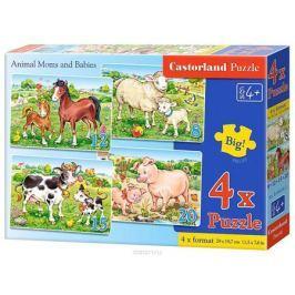 Castorland Пазл Домашние животные 4 в 1