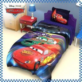 Disney Комплект детского постельного белья Тачки 1,5 спальное