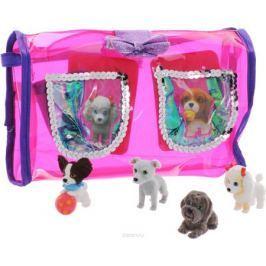 Puppy In My Pocket Набор фигурок 4 шт + сумочка