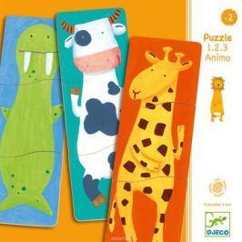 Djeco Пазл для малышей Забавные животные