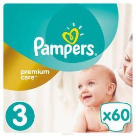 Pampers Premium Care Подгузники 3, 5-9 кг, 60 шт