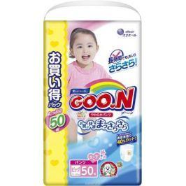 GOON Подгузники-трусики для девочек Ultra Jumbo Pack XL 12-20 кг 50 шт