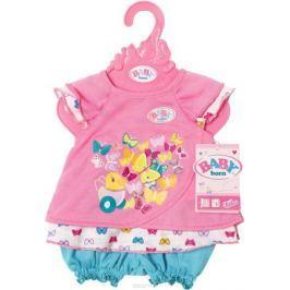 Baby Born Туника с шортиками для куклы цвет розовый бирюзовый