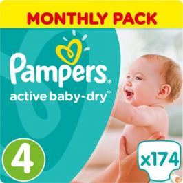 Pampers Подгузники Active Baby-Dry 8-14 кг Maxi 174 шт