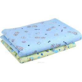 Фреш Стайл Комплект пеленок цвет голубой зеленый 90 х 130 см 2 шт