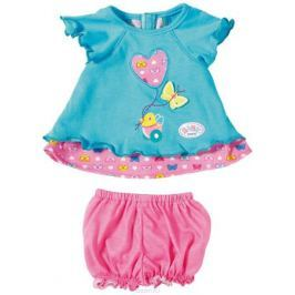 Baby Born Туника с шортиками для куклы цвет бирюзовый розовый