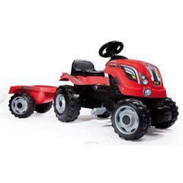 Smoby Трактор педальный Farmer XL с прицепом цвет красный