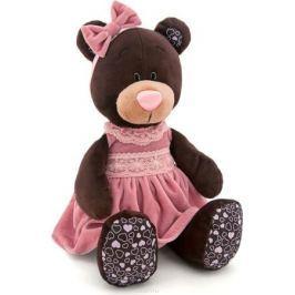 Orange Toys Мягкая игрушка Milk сидячая в розовом бархатном платье 25 см