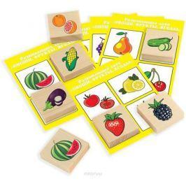 Развивающие деревянные игрушки Лото Овощи фрукты ягоды Д533а