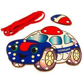 Развивающие деревянные игрушки Шнуровка Полиция