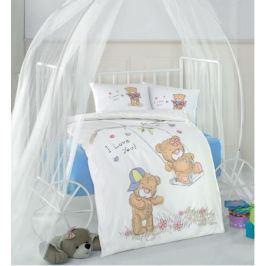 Clasy Комплект детского постельного белья Masal цвет голубой 4 предмета наволочки 35 х 45 см 5229