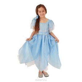 Карнавальный костюм для девочки Вестифика Дюймовочка, цвет: голубой, белый. 102 005. Размер 110/128