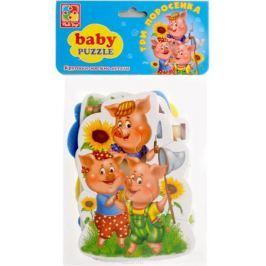 Vladi Toys Мягкие пазлы Baby puzzle Сказки Три поросенка