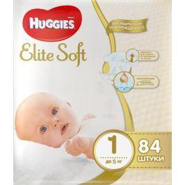 Huggies Подгузники Elite Soft до 5 кг (размер 1) 84 шт
