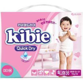 Kibie Подгузники для девочек Quick Dry XL 13+ кг 36 шт