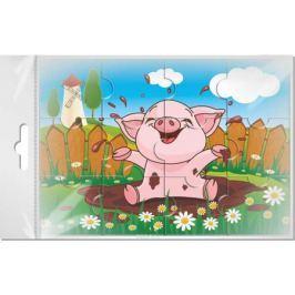 Издательская группа Квадра Пазл для малышей Свинка в луже
